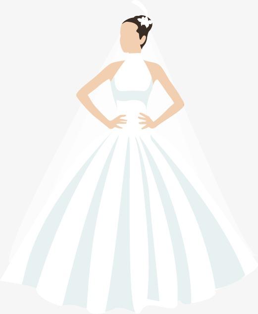 Vestido de novia de la mujer