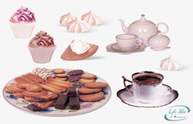 Western-style Snack Coffee Decoration Pattern, Western Snacks ...