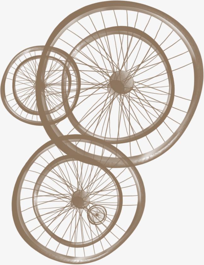 無料ダウンロードのための変形ホイール 車輪 コーヒー色 自転車 png画像