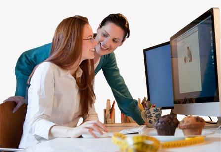 Employé de bureau col blanc deux femmes en col blanc la beauté de