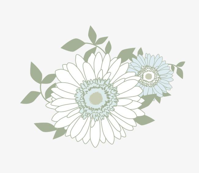 Flores Blancas Cartoon Flor Pintado A Mano De Flores Dibujos De
