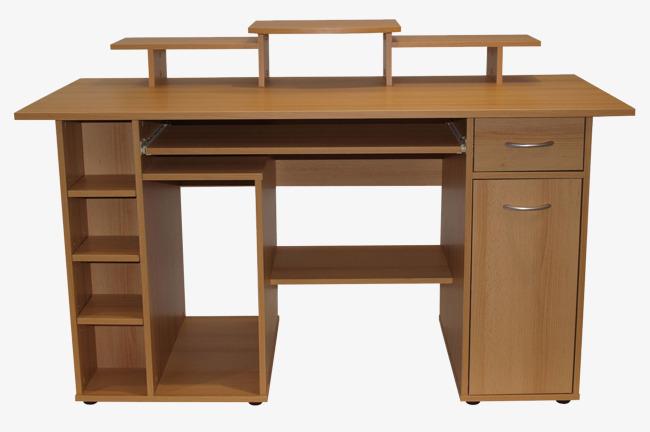 Ordinateur de bureau en bois massif domestique simple modèle image