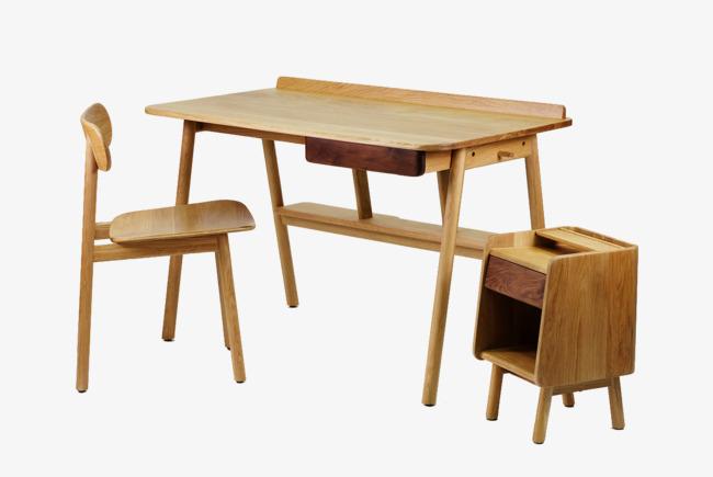 Ordinateur de bureau en bois en bois ordinateur de bureau chaise
