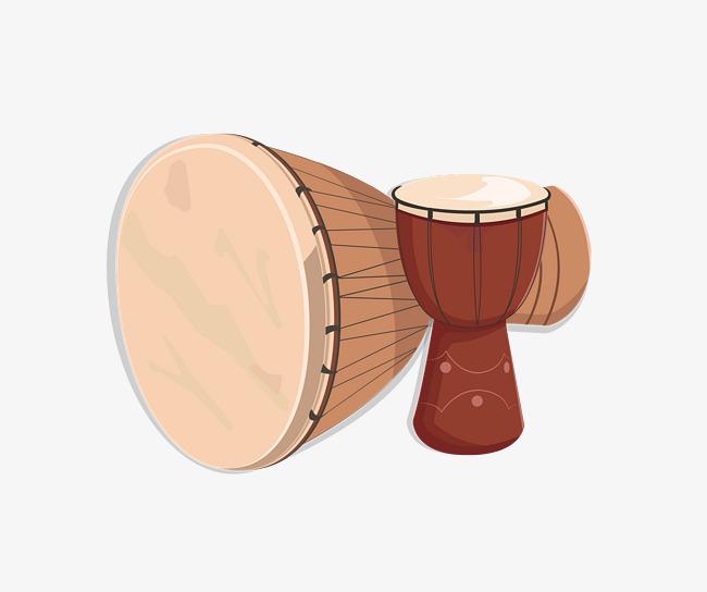 Gelbe Comic Leder Trommel Cartoon Hand Drum Leder Schlagzeug Png Und