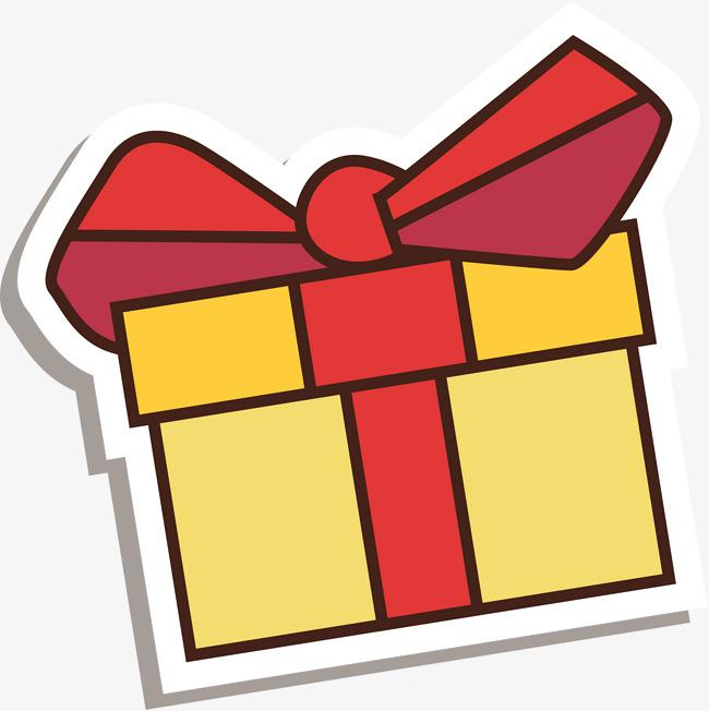 jaune de dessin de cadeau jaune dessin cadeau image png