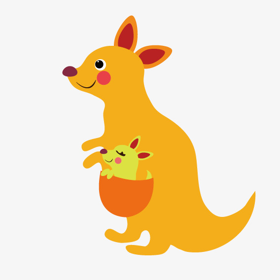 jaune de dessin vectoriel kangourou jaune dessin vecteur
