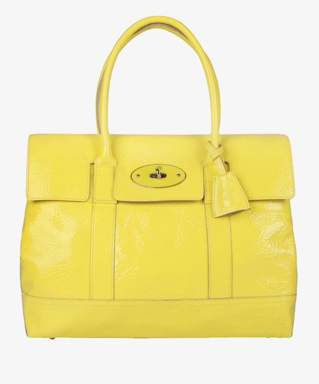 Yellow Handbag Bags Lady Bags Fashion Handbags Png Image And