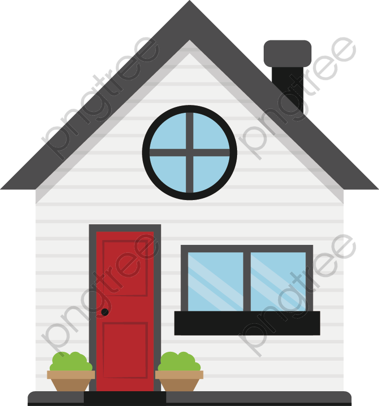 Transparent cartoon house building PNG Format Image With ...