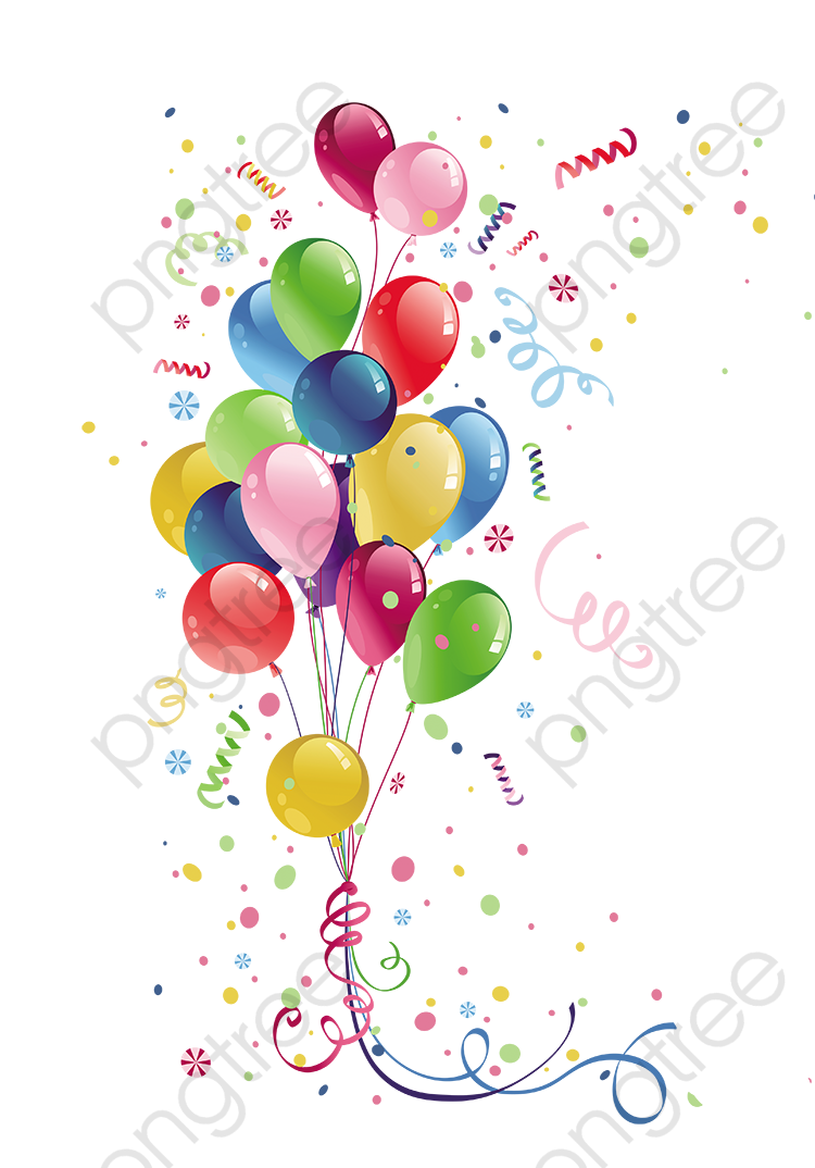 transparent colorful balloons png format image with size
