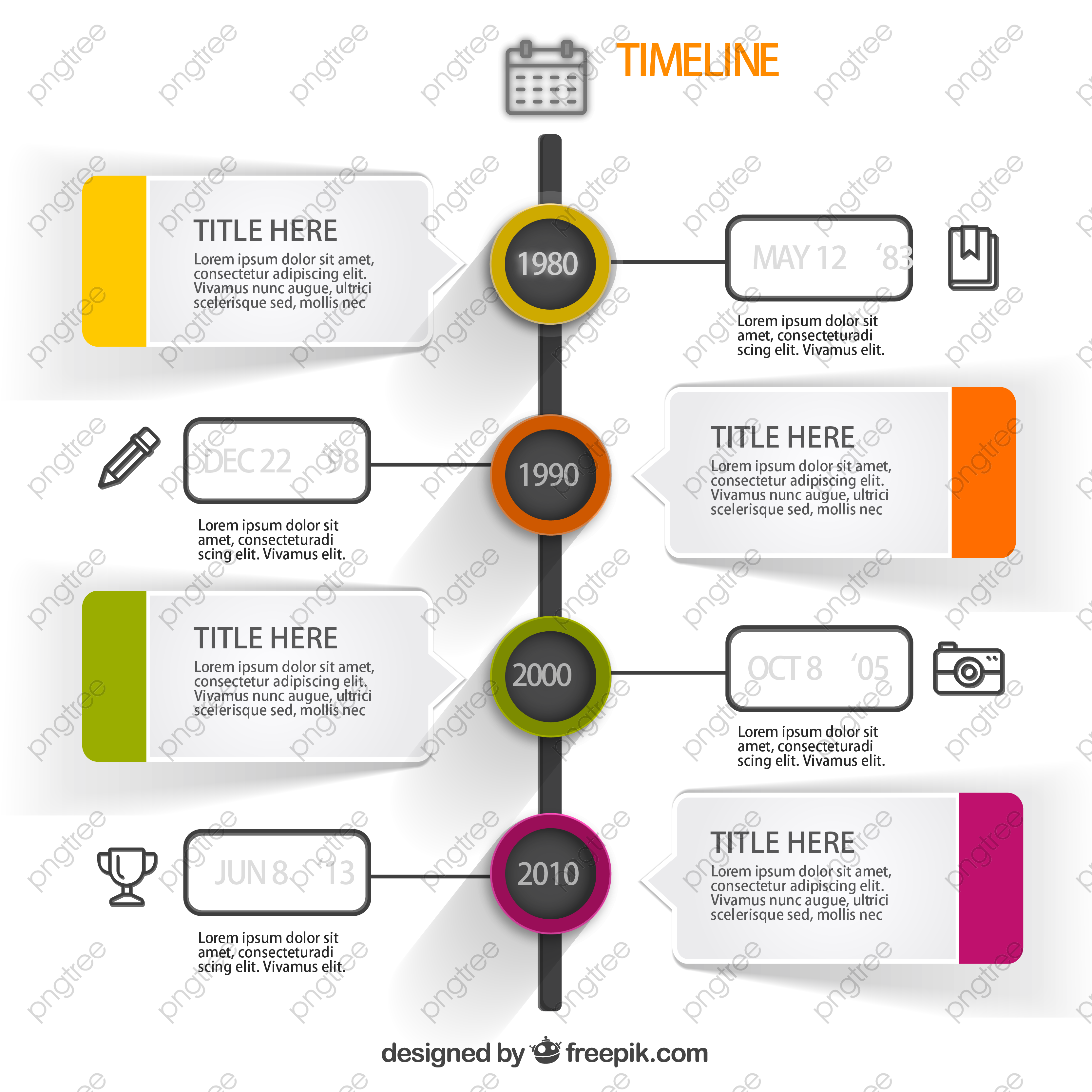 Colorful Timeline Chart Free Png Clipart