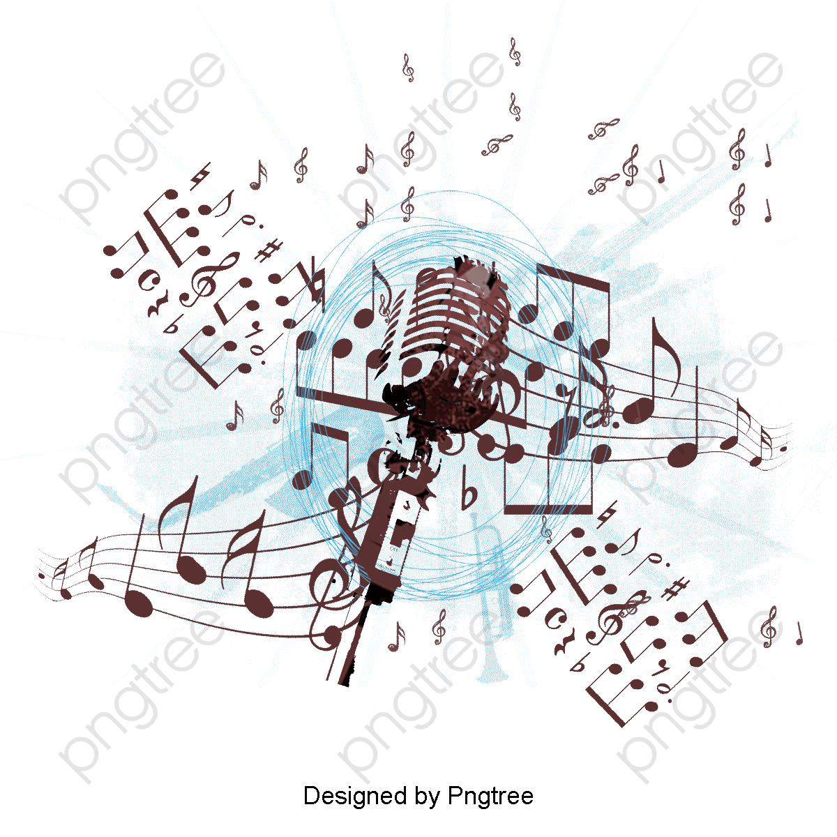 Transparent Microphone Music Background Png Format Image