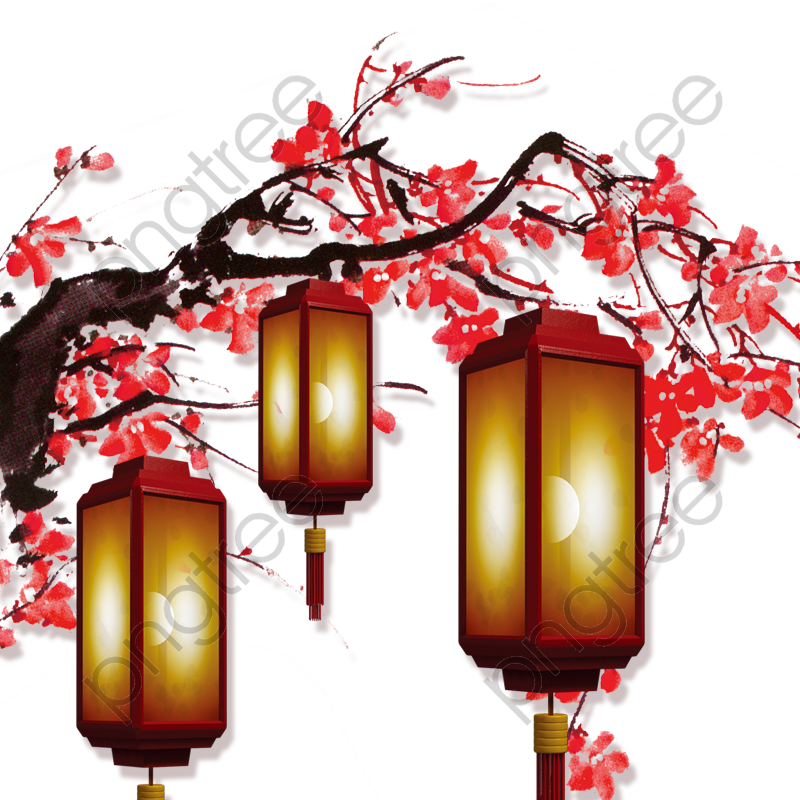 transparent chinese new year decorative lanterns hanging