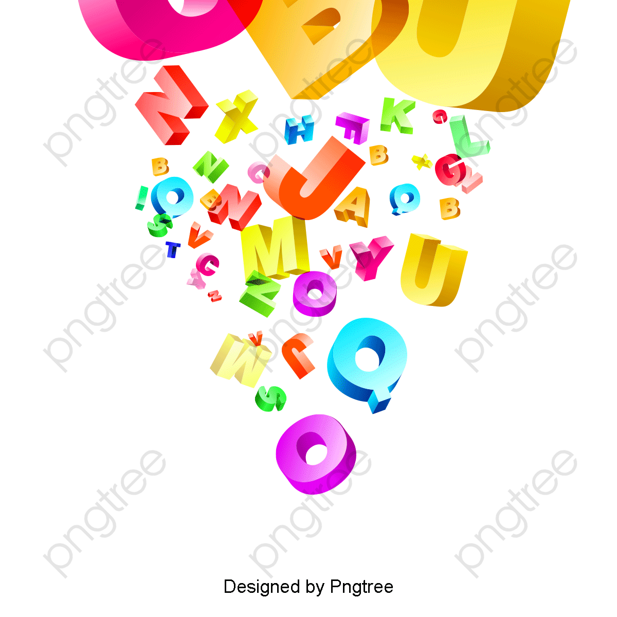 transparent colorful abstract english alphabet png format image with size 1200 1200 preview page