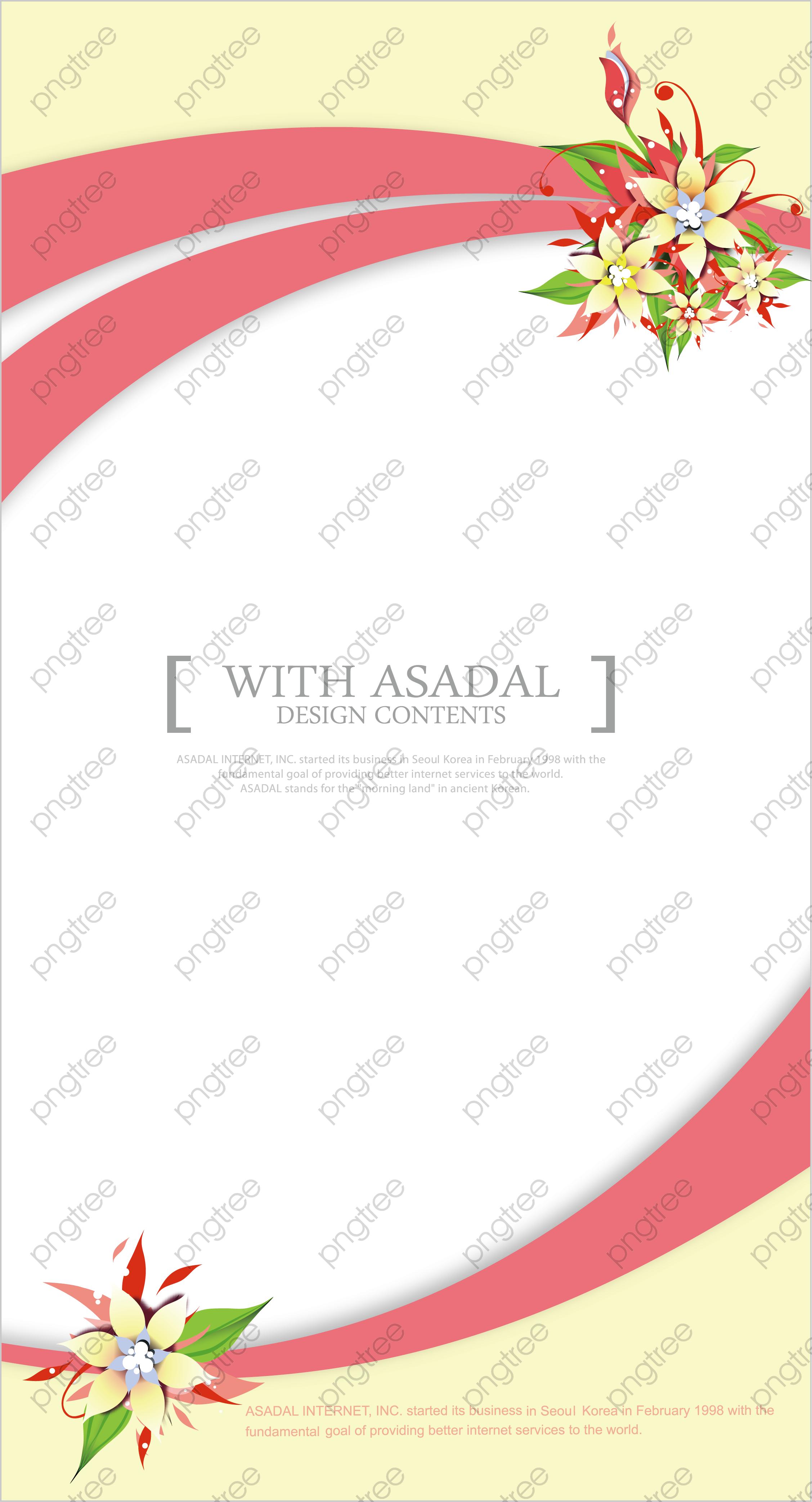 Transparent Fashion Flowers Wedding Invitation Card Design Png