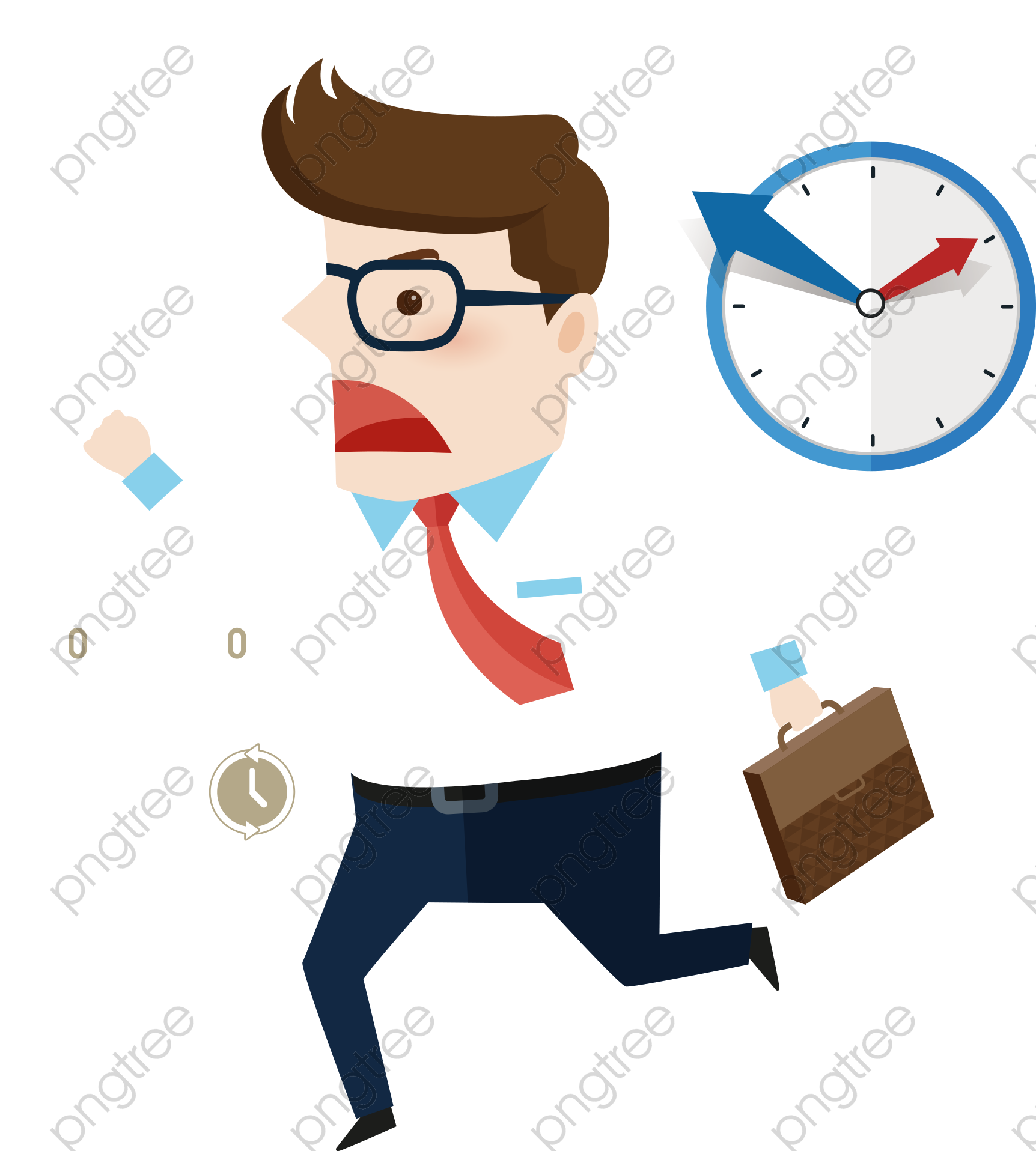 Transparent Man Running Late For Work Png Format Image With Size