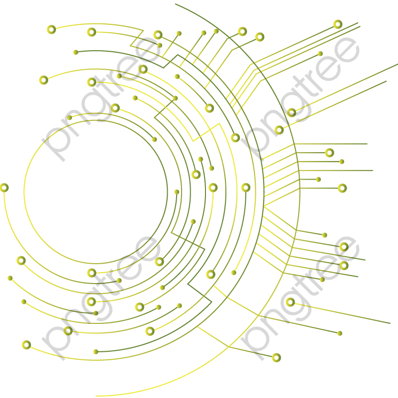 Transparent Vector Circular Circuit Chip Material Free Download