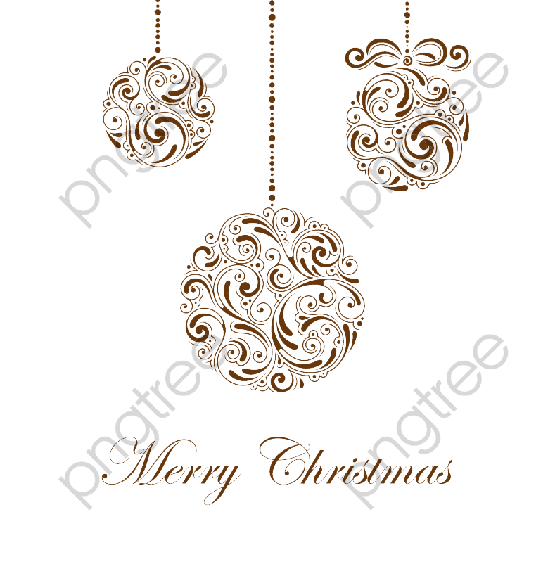 Christmas Chain Png.Transparent Vintage Christmas Ball Png Format Image With
