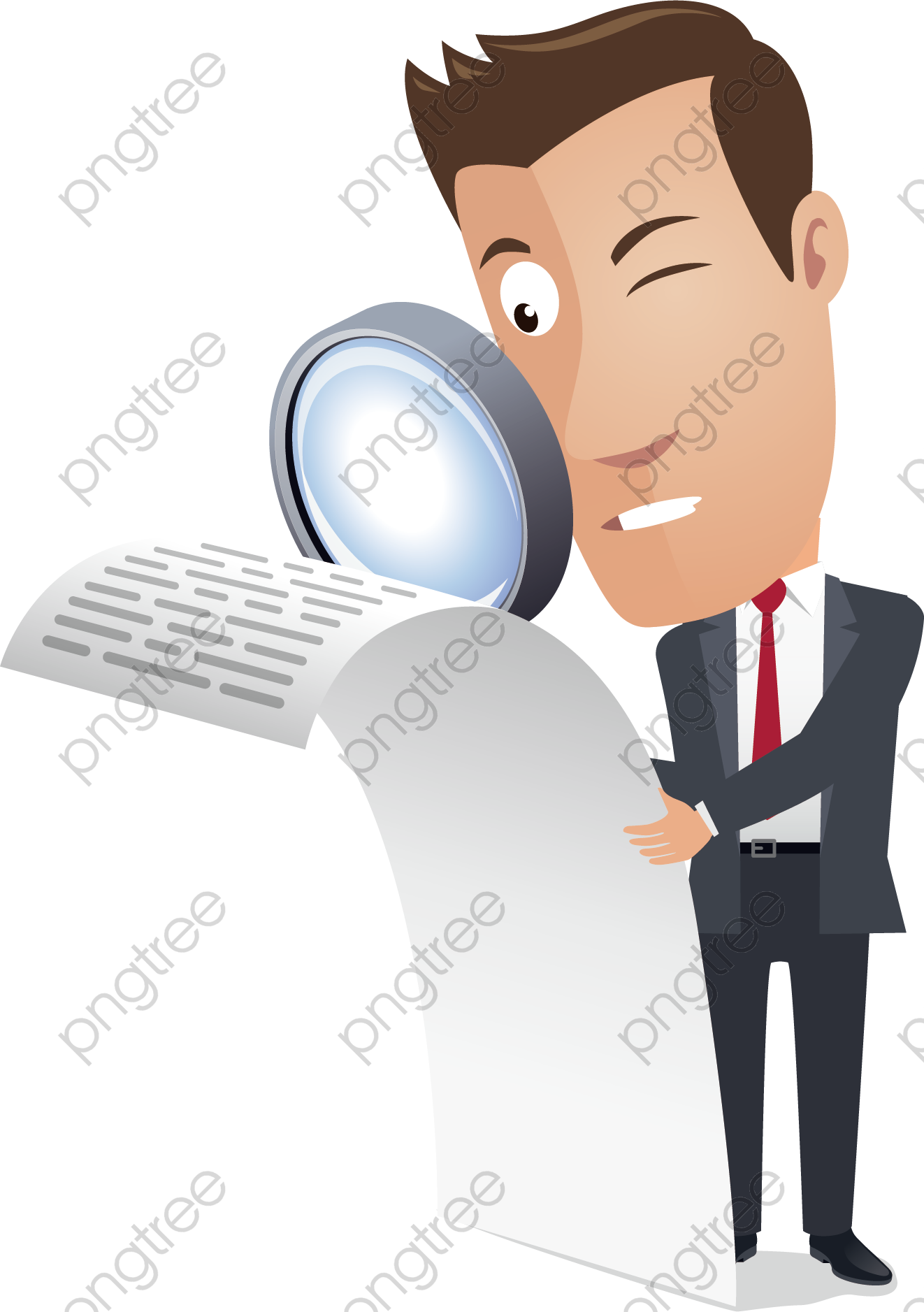 transparent a man holding a magnifying glass png format