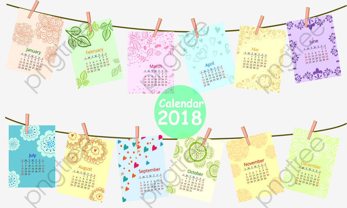 color photo 2018 calendar png clipart