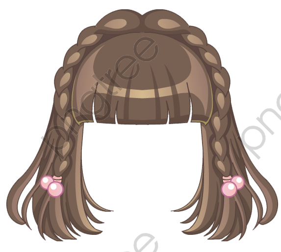 Transparent cute girls hairstyle PNG Format Image With ...