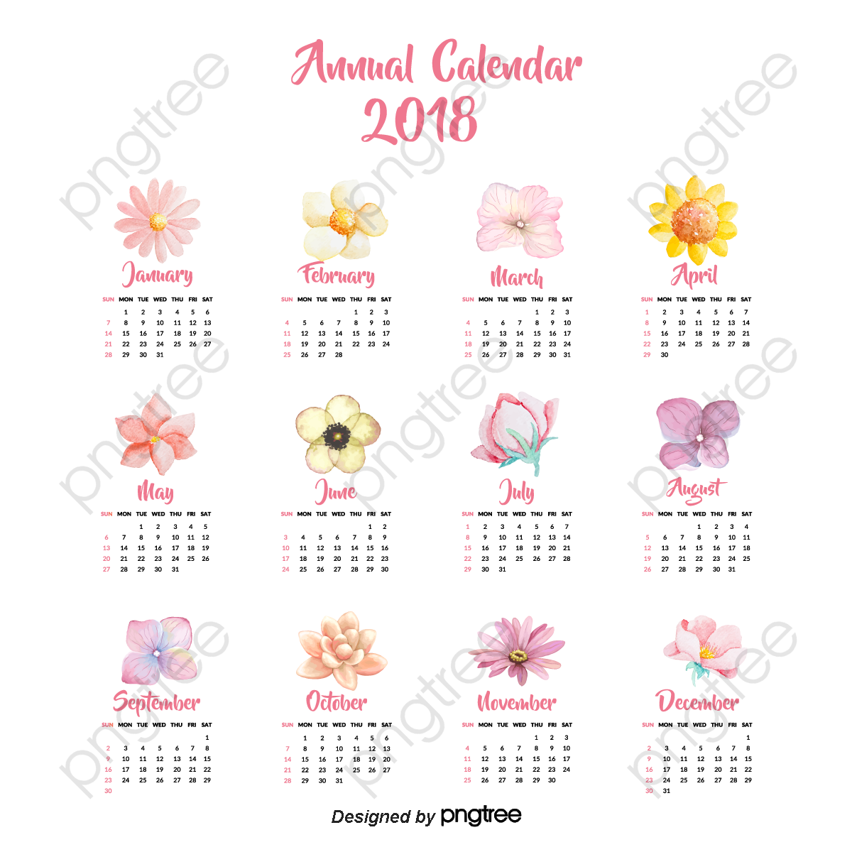 Transparent December 2018 Calendar Template Png Format Image With
