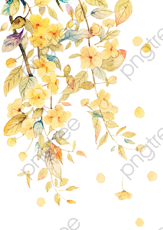 Watercolor Flowers Png Vector Psd And Clipart With: Transparent Watercolor Flowers PNG Format Image With Size
