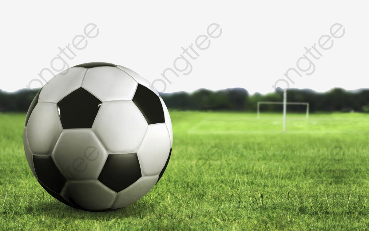 alignement de but de football stade pelouse le football