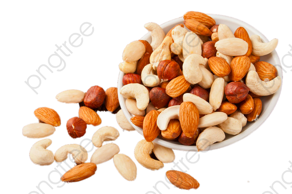 Dry Nuts Hd Free Image: Transparent Bowl Of Nuts PNG Format Image With Size 1000