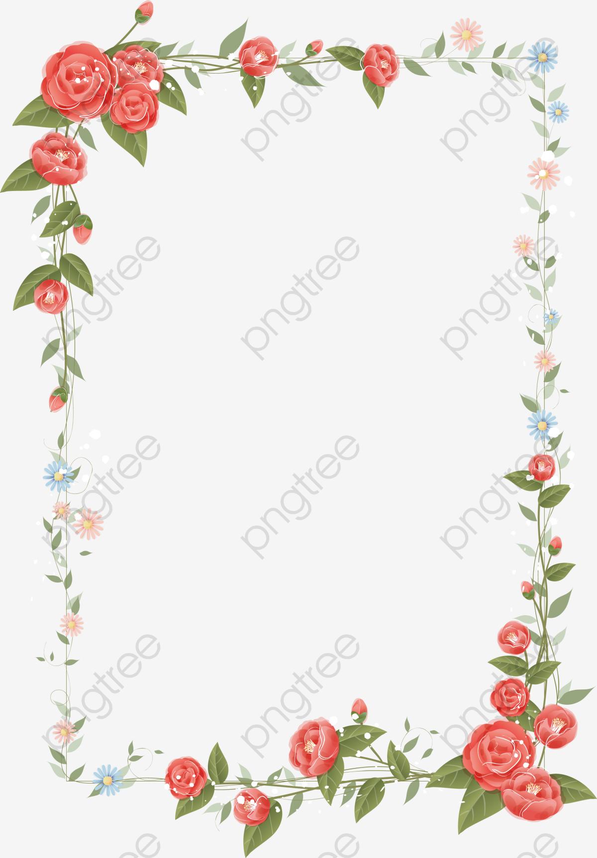 Transparent Floral Border Design Vector Png Format Image With Size