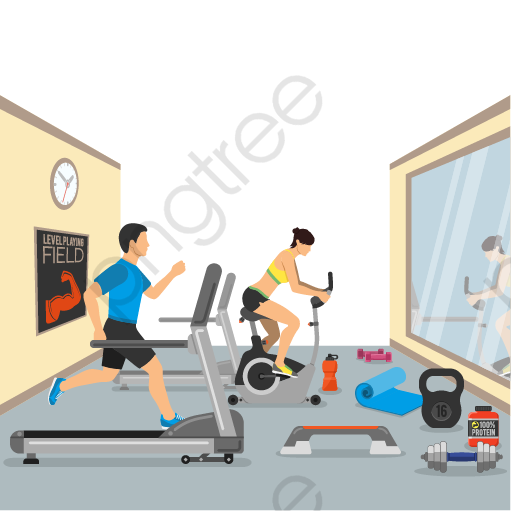 Transparent gym vector material png format image with size