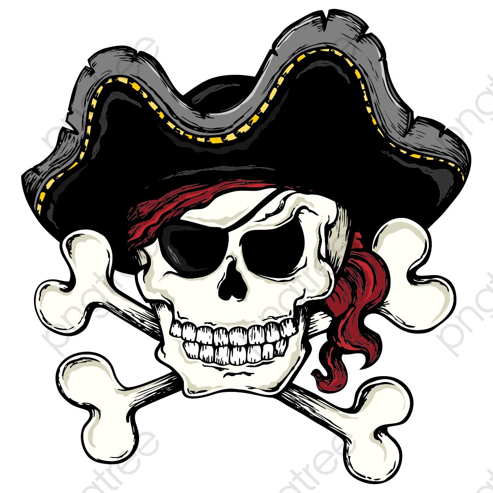 Transparent Pirate Skull And Bones Png Format Image With Size 1200