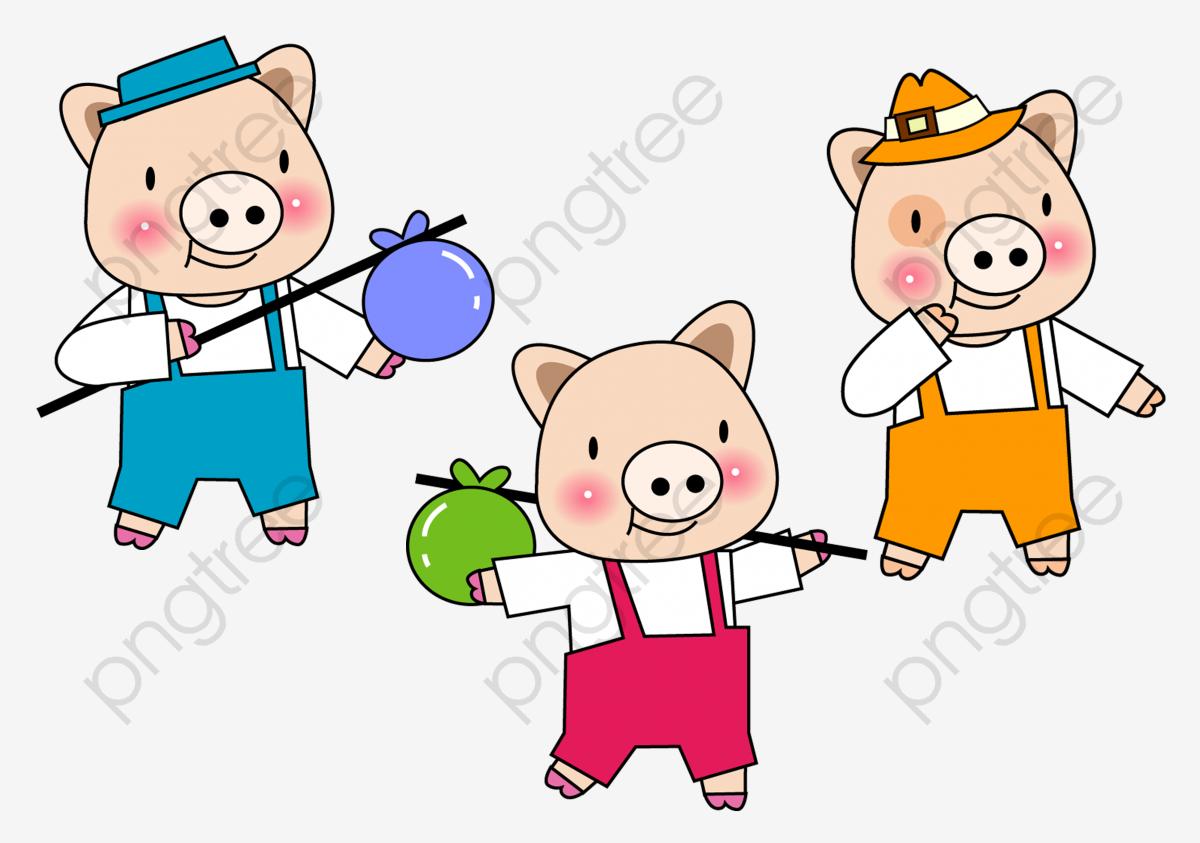 Os Três Porquinhos Os Três Porquinhos Porco Dos Desenhos