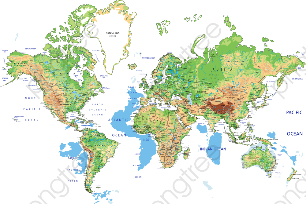 Vector World Geography Map, World Map, Vector Map, Global Map PNG ...