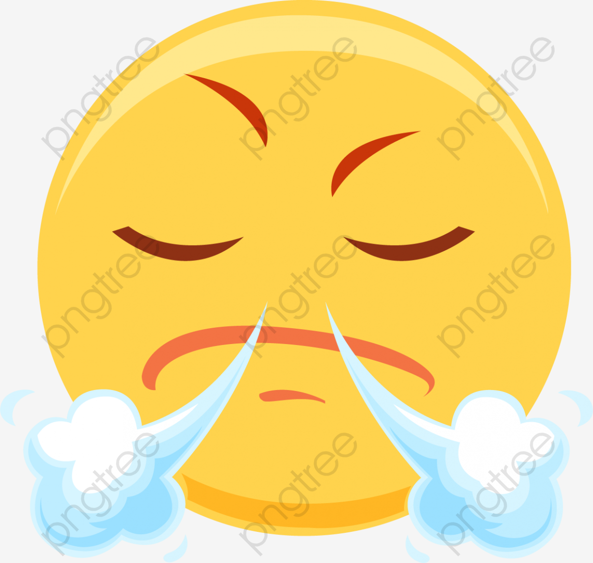 Angry Expression Cartoon Emoji Emoticon Png And Vector With