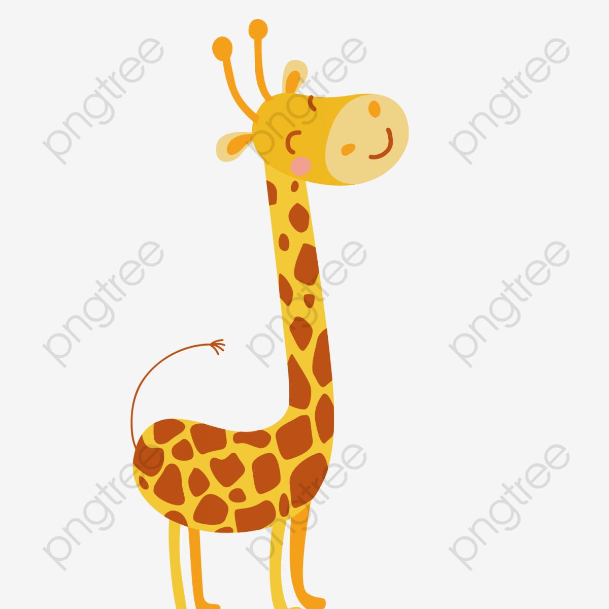 Vector Cute Cartoon Girafa Linda Girafa Girafa Dos Desenhos