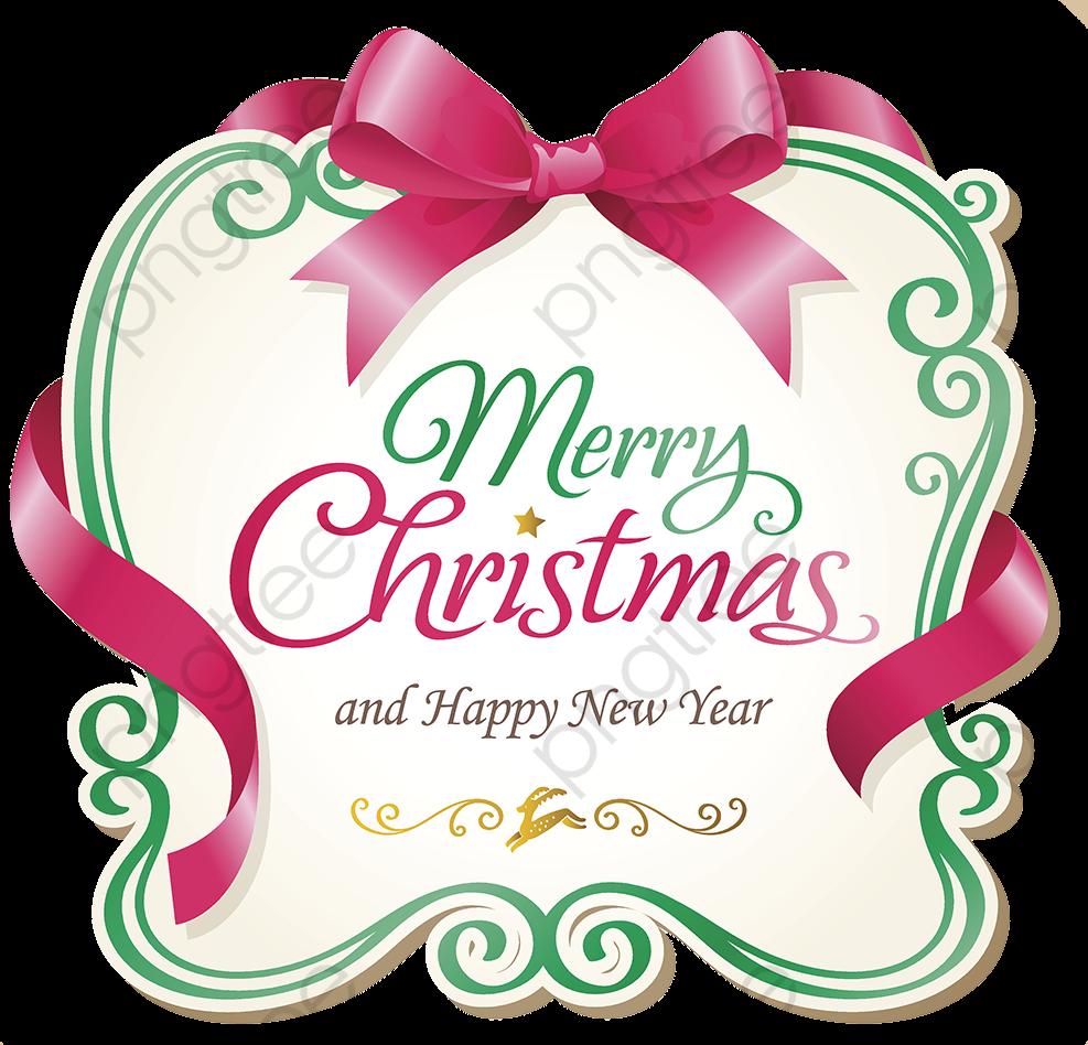 Christmas Card Clip Art.Christmas Card Design Red Ribbon Frame Merry Christmas