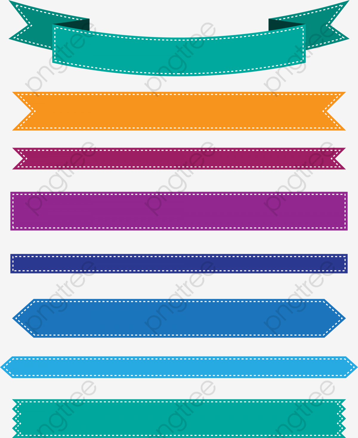 Colorful ribbon banner PNG Clipart