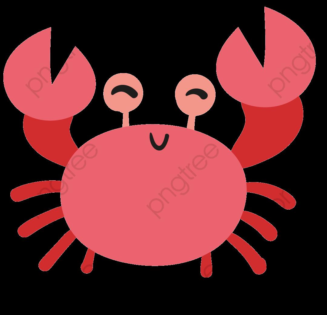 Cute Crab Material, Cute Clipart, Red, Cartoon PNG ...