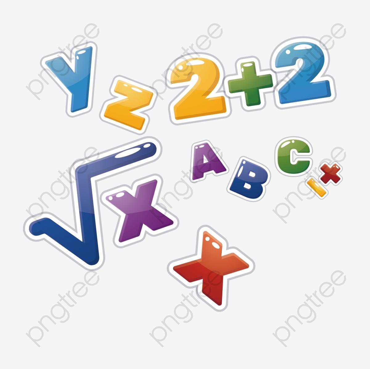 jolie petite math u00e9matique lettres num u00e9rique  u00e9cole png et vecteur pour t u00e9l u00e9chargement gratuit