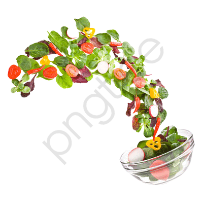 Fruits And Vegetables Salad Out Of Flying, Vegetables ...