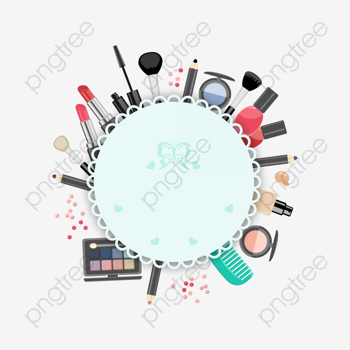 illustration de maquillage vecteur produits cosm u00e9tiques de forme annulaire png et vecteur pour