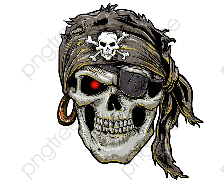 Transparent Pirate Skull Png Format Image With Size 20002000