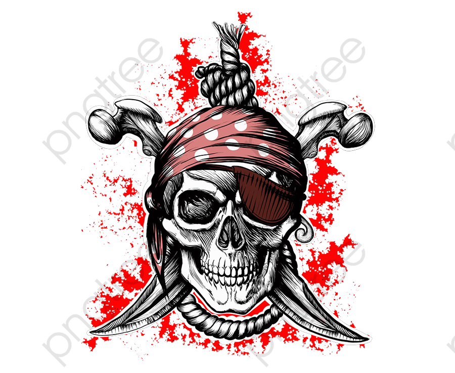 Transparent Pirate Skull Png Format Image With Size 12001200