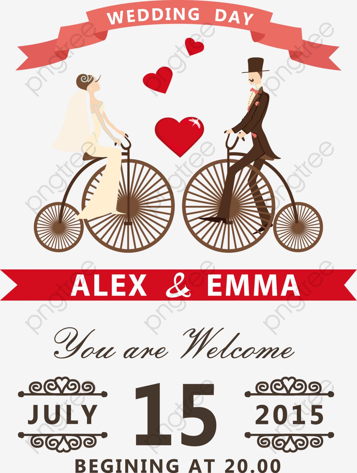 jolie carte de mariage tr u00e8s belle carte rouge d amour les mari u00e9s png et vecteur pour