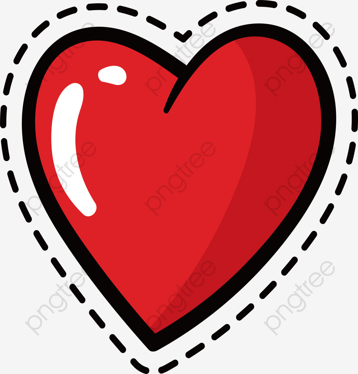 Red Love Sticker, Vector Png, Love, Love Sticker PNG and