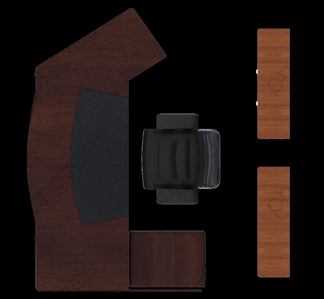 Size Chart Diagram Color Flat Black Wood Office Furniture Color