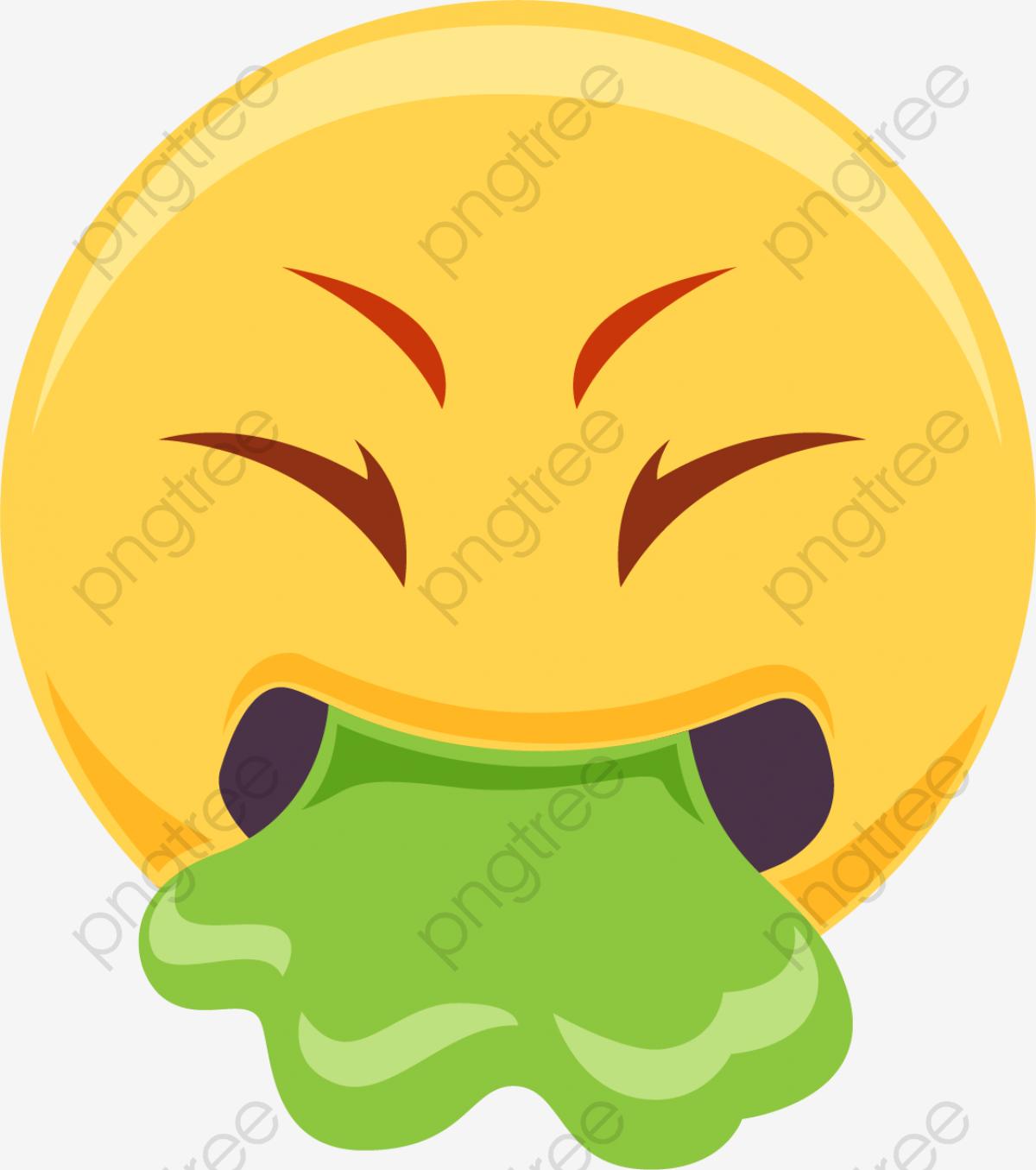 Vómitos Náuseas Emoji Cartoon Emoji Emoticon Png Y Vector Para