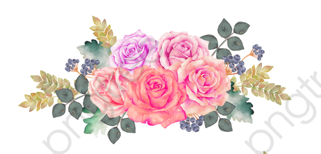 Watercolor Flowers Png Vector Psd And Clipart With: Watercolor Flowers, Watercolor Clipart, Pink, Flower PNG
