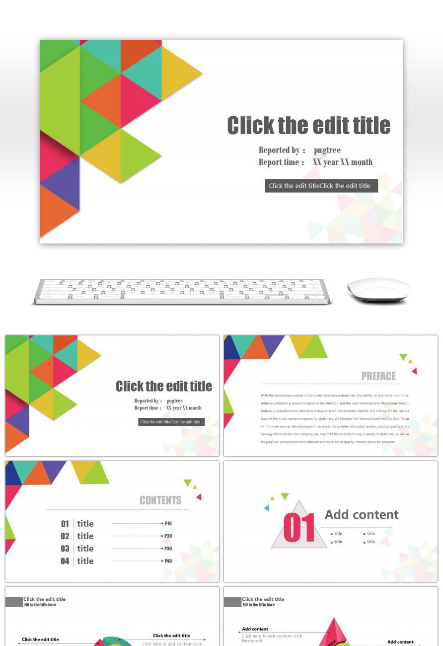 Awesome Work Summary Report Ppt Template For Unlimited Download On