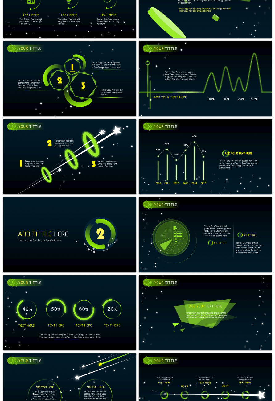 awesome science fiction dynamic ppt template for unlimited